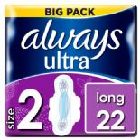 Always Ultra Long Sanitary Towels With Wings 22 Pack